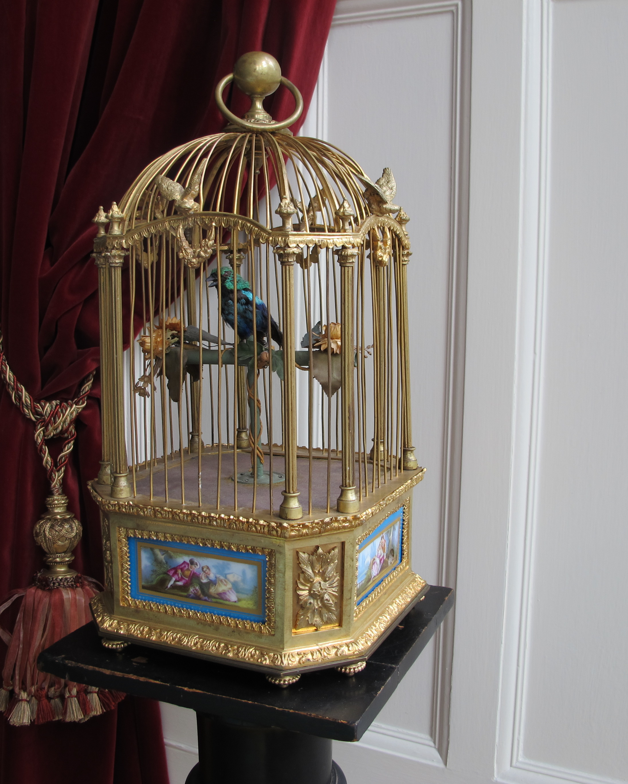 Singing Bird in Gilded Cage | House of Automata | 2192 x 2736 jpeg 1362kB
